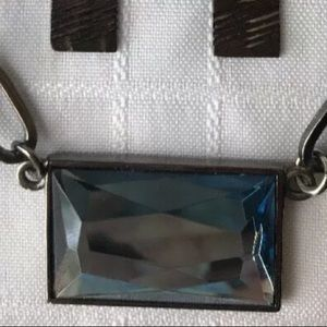 Lia Sophia Jewelry - Lia Sophia Prisma Blue Gem Hematite Necklace